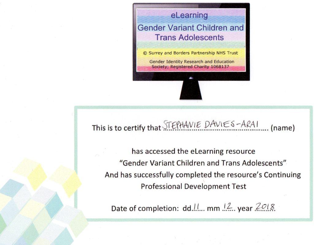 Transgender Training - Stephanie Davies-Arai